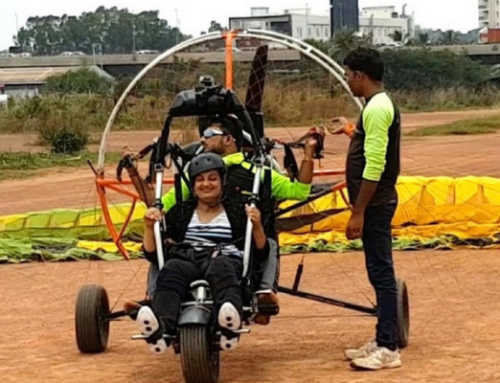 Paramotoring as a wheelchair user